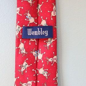 Wembley Dancing Reindeer Christmas Tie